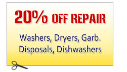 Washer Dryer Repair Discount Coupon