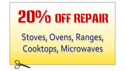 Stove Oven Range Cooktop Repair Discount Coupon